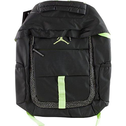 NIKE Jordan Logo Jumpman School Laptop Backpack Black/Reflective Graphic/Volt Yellow