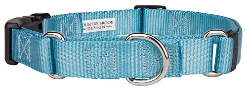 - Country Brook Design | Nylon Martingale with Deluxe Buckle - Ocean Blue - Large
