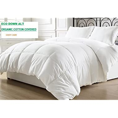 Organic Comfort Goose Down Alternative Comforter. King Light