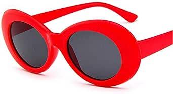 نظارة شمسية بيضاوية من Clout Goggles مع عدسة دائرية ذات إطار سميك بتصميم قديم