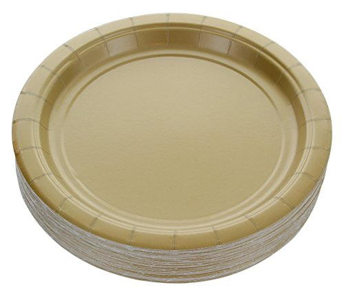 Amcrate Gold Disposable Party Paper Dessert Plates 7