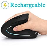 Best Bluetooth Mouse Ergonomics - Ergonomic Mouse, Vertical Wireless Mouse - 7Lucky Rechargeable Review