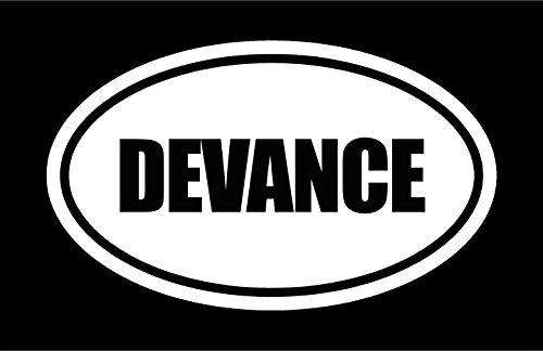 "6"" die cut white vinyl DEVANCE"