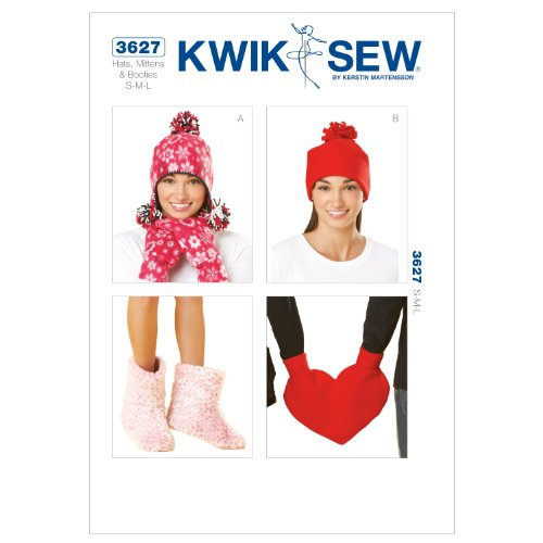 (Kwik Sew K3627 Hats Sewing Pattern, Mittens and Booties)