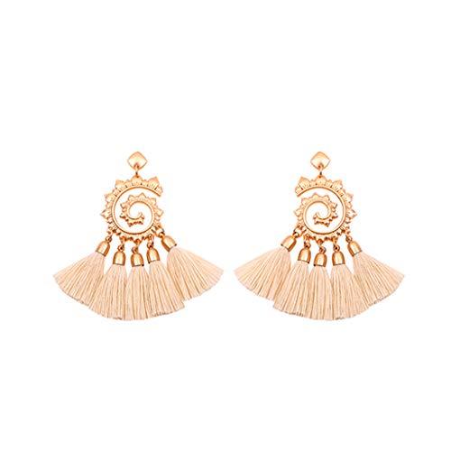 - GDJGTA Earrings Womens Vintage Bohemian Metal Sun Flower Tassel Earrings Pendant Ladies Jewelry