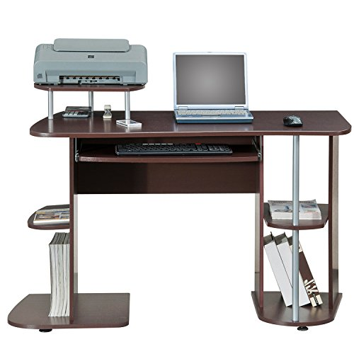 Deluxe Corner Desk Workstation - MyEasyShopping Deluxe All-in-one Computer Desk Workstation Workstation Desk Computer Table
