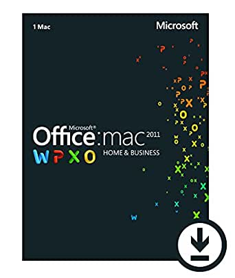Office Mac 2011 Home and Business 2011 - 1 Mac/1 User [Download]