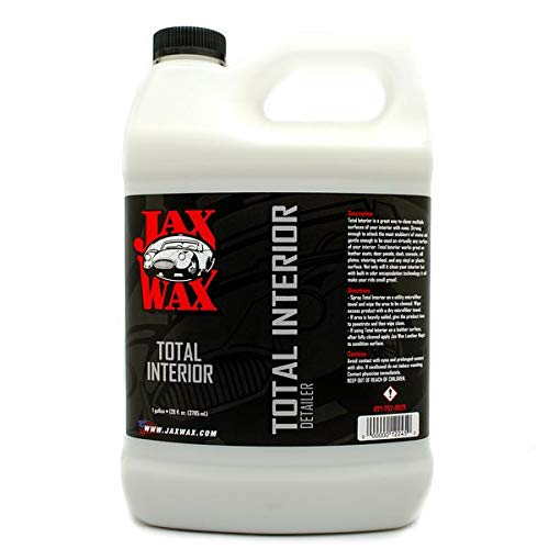 Jax Wax Total Interior Cleaner and Protectant - Vinyl and Leather Detailing Spray - 1 Gallon