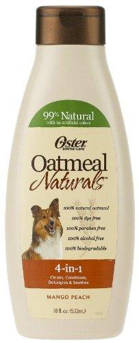 Oatmeal Naturals 4-in-1 Shampoo – 18 oz Mango Peach, My Pet Supplies