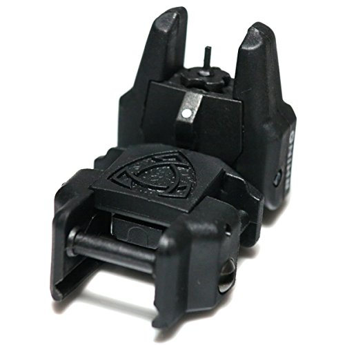 Airsoft Wargame Tactical Shooting Gear APS GG038B Rhino Auxiliary Flip Up Front Sight Black by Airsoft Storm (Image #2)