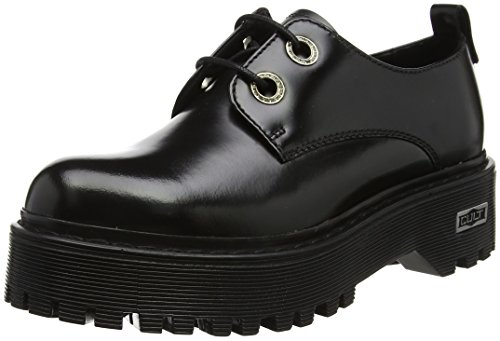 Donna Nero Stringate Slash Derby Scarpe Basse Low 1702 Black Cult UOqfTHf