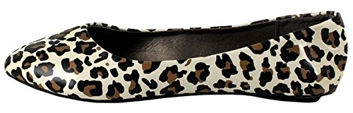 Max Footwear May Ballet Flats Leopard Patent *May RP2hXfV