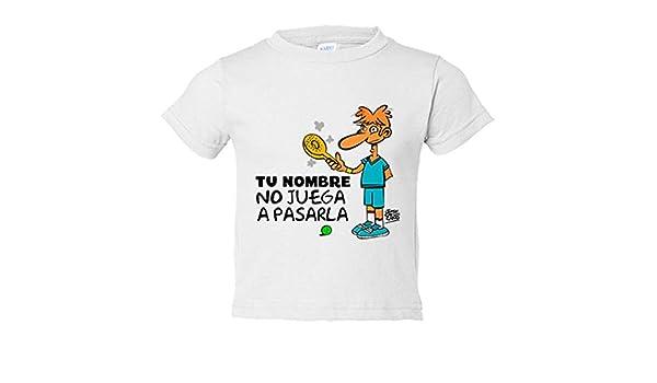 Camiseta niño Padel yo no juego a pasarla personalizable con nombre - Blanco, 3-4 años: Amazon.es: Bebé
