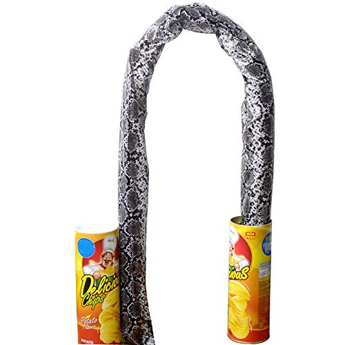 Iusun Magic Potato Chips Cans Snake Halloween Tricks Joke Scary Fries Play Fun Toys for Party Fool's Day Gifts Props Prank Joke Trick Accessory Hen Party Dicky Props - Ship -