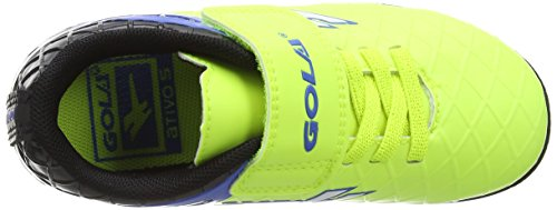 Gola Talos Vx Velcro, Zapatillas de Fútbol Unisex Niños Amarillo (Volt/black/pro Blue)