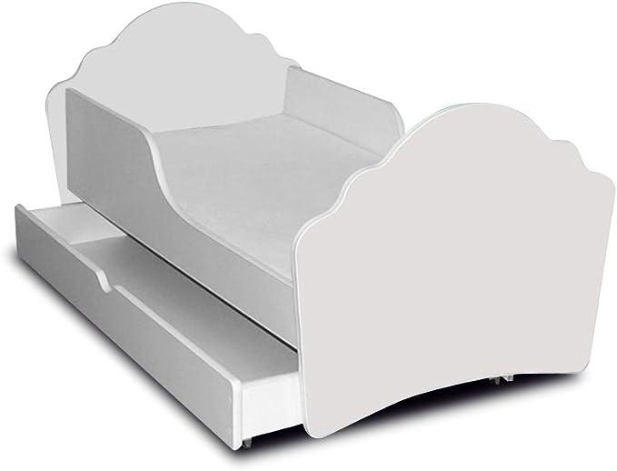 Cama infantil, diseño de cuadrados, II-colchón somier 160 x ...