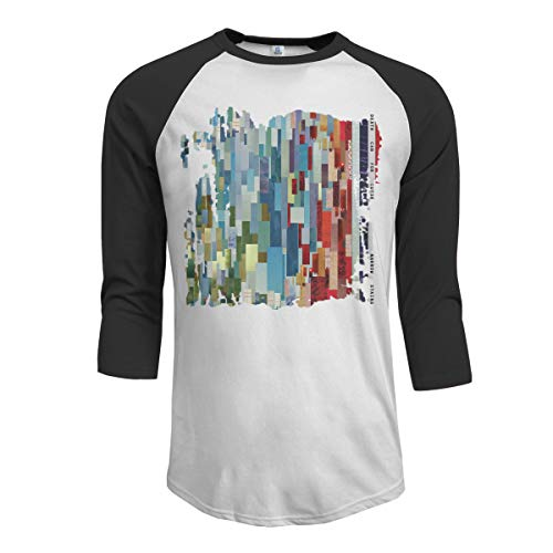 JeremiahR Death Cab for Cutie Narrow Stairs Men's 3/4 Sleeve Raglan Baseball Tshirts Black L