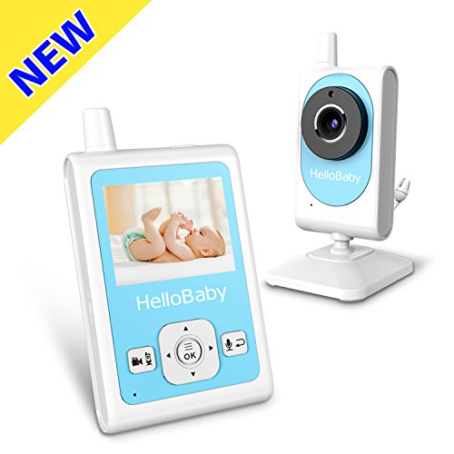 HelloBaby Wireless Video Baby Monitor with Motion Detection & Alarm, Video Recording, Night Vision Camera, Two-way Talk Audio, Temperature Monitoring and Long Transmission Range