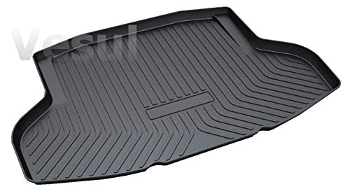 Vesul Rubber Rear Trunk Cargo Liner Trunk Tray Floor Mat Cover Fits on Honda Civic Sedan 2016 2017 2018 2019