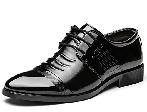 CSDM Grande promozione Uomini Casual scarpe da uomo Scarpe singole scarpe da sposa scarpe a punta di punta , black , 40