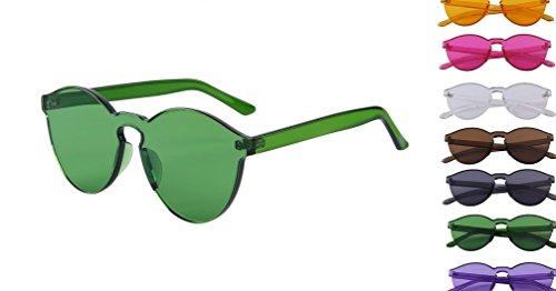 Retro Fashion Sunglasses NYC Clear - Glasses I Green