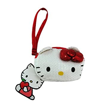 Amazon.com : Hello Kitty Purse, Girls Sequin Coin Purse ...