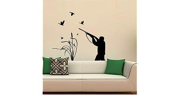 GJQFJBS Caza de pájaros Creativo Pegatinas de pared ...