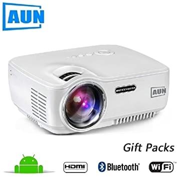 Proyector LED Mini proyector 1400 Lumens Multimedia Video Android ...
