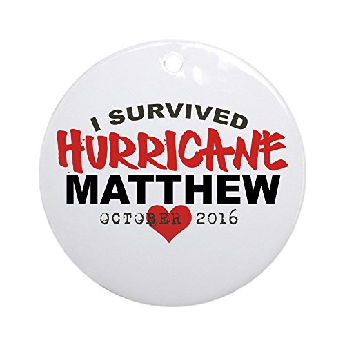 CafePress Hurricane Matthew Survivor October 2016 Round Orna Round Holiday Christmas Ornament