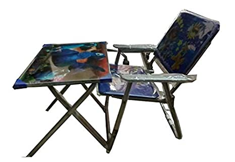 Buy Babyjoys Kid S Metal Study Table And Chair Set Blue Online At