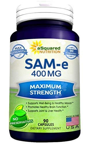 (Pure SAM-e 400mg Supplement - 90 Capsules - Same (S-Adenosyl Methionine) to Support Mood, Joint Health, and Brain Function - Extra Strength SAM e Pills)