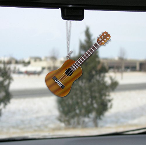 Hanging guitar ornament decoration brown acoustic guitar for Acoustic guitar decoration