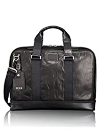 Tumi 092390DL2 Alpha Bravo Leather Andrews Slim Brief, Black, One Size