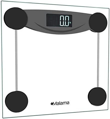 Amazon Com Malama Digital Body Weight Bathroom Scale Weighing Scale With Step On Technology Lcd Backlit Display 400 Lbs Accurate Weight Measurements Black Industrial Scientific