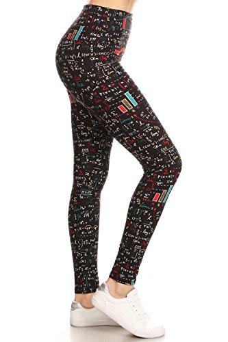 LY5X-S550 Nerd Chic Yoga Print Leggings, Plus -
