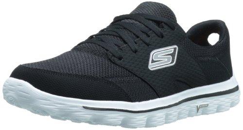 Skechers Men's Go 2 Stance Walking Shoe,Black/White,9.5 M US
