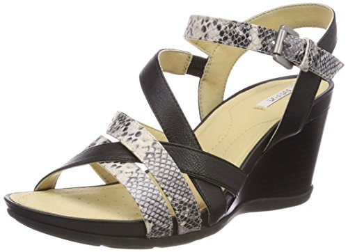 Black Women Dorotha D Sandals Flatform C Black Geox Sand C0113 x7Ygpwqq