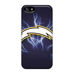 GAwilliam Iphone 5/5s Hybrid Tpu Case Cover Silicon Bumper San Diego Chargers