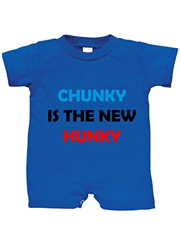 Speedy Pros Chunky is The New Hunky 100% Cotton Infant Baby Jersey Tee T-Romper Royal Blue 12 Months