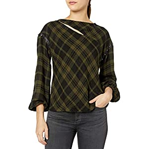Ramy Brook Women's Sloan Plaid Blouse Shirt