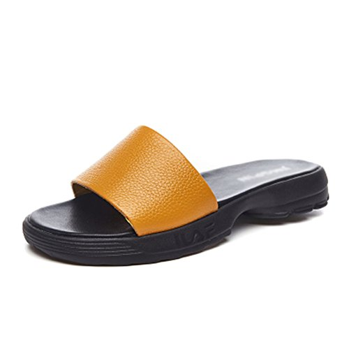 5 Simple UK4 5 Suave EU35 De PENGFEI De Color Gran Pantofola Playa Mujer Tamaño Fondo Zapatillas 225 Amarillo US5 Plano Blanco Colores Verano Temporada Tamaño 66BqtzwR