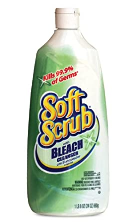 Soft Scrub 01602 Antibacterial with Bleach, 24oz Bottle, 9/Carton
