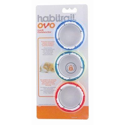 Hagen Cage Hamster (Habitrail Ovo Lock Connectors for Hamster Homes [Set of 3])