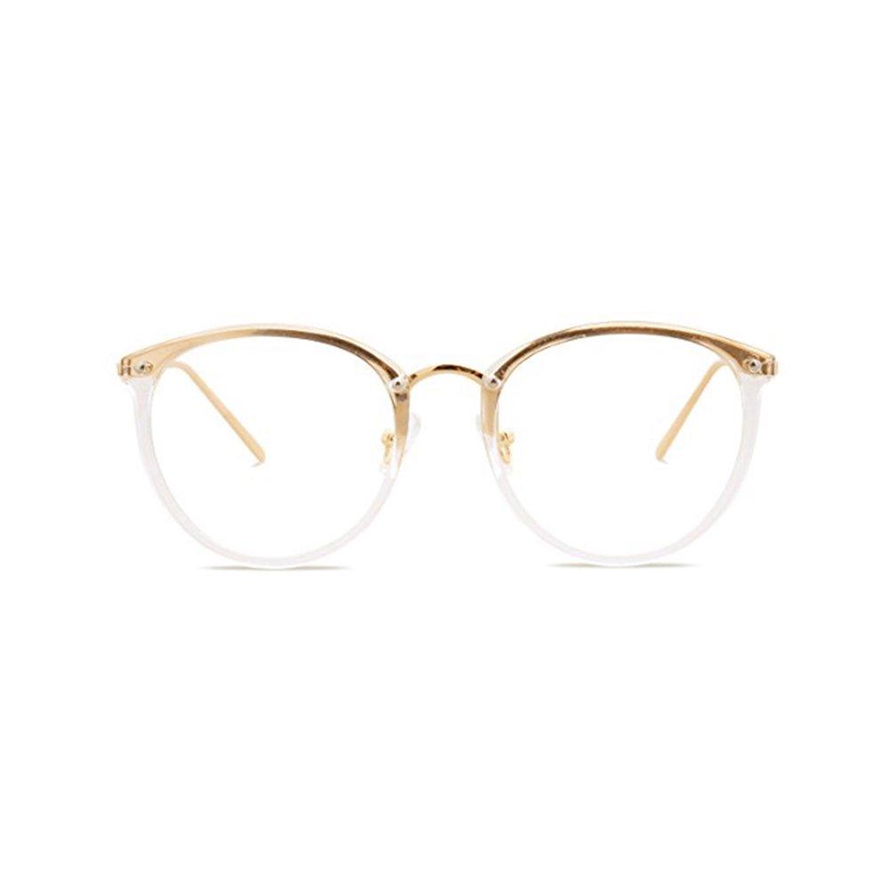 bbea35e938 Retro Plain Glasses Frame Non-prescription Eyewear Round Vintage Goggles Eyeglasses  Spectacles Optical Frame with Clear Lenses for Men   Women from ...