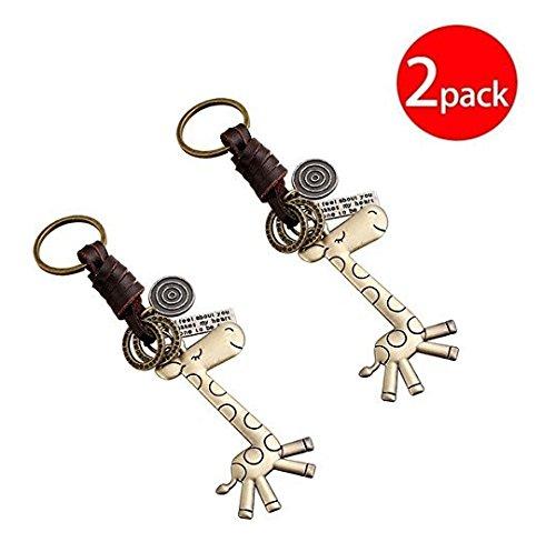 Minigianni Handbag Tote Purse Giraffe Pendant Ornament Charm Elegant Keychain(2 Pack)