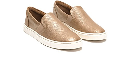 FRYE Women's Ivy Slip Fashion Sneaker Gold