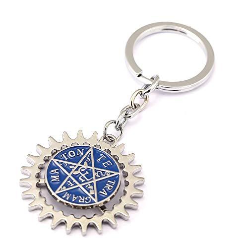 Mct12 - MS Jewelry Black Butler Keychain Rotatable Evil Eyes Key Ring Holder Gift Chaveiro Car Key Chain Pendant Anime Souvenir