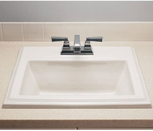 American Standard 0700.004.020 Town Square Countertop Sink with 4-Inch Faucet Spacing, White