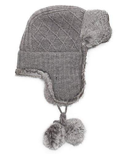 Surell Grey Rabbit Fur...