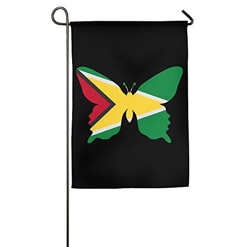LLiYing-D Guyana Flag Butterfly Printed Holiday